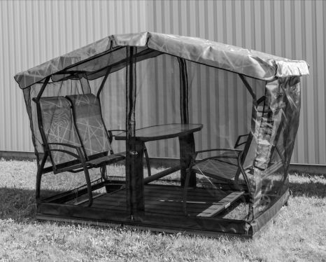 Screen Shelter side only  for  swing on wheels